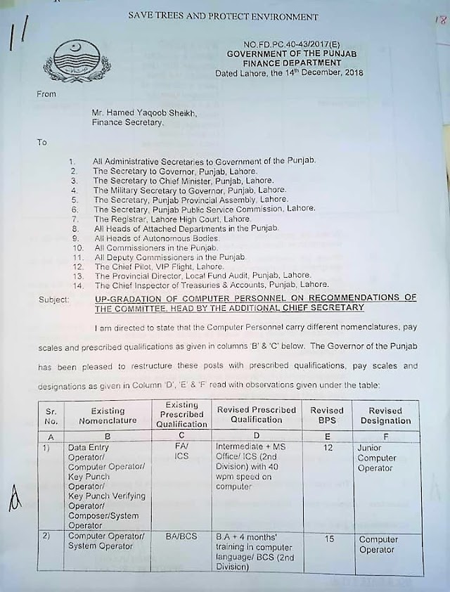 UP-GRADATION OF COMPUTER PERSONNEL