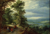 Edge of the Forest by Jan Brueghel I - Christianity, Religious Paintings from Hermitage Museum