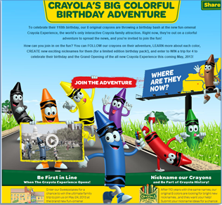 Win a vacation to the Crayola Experience
