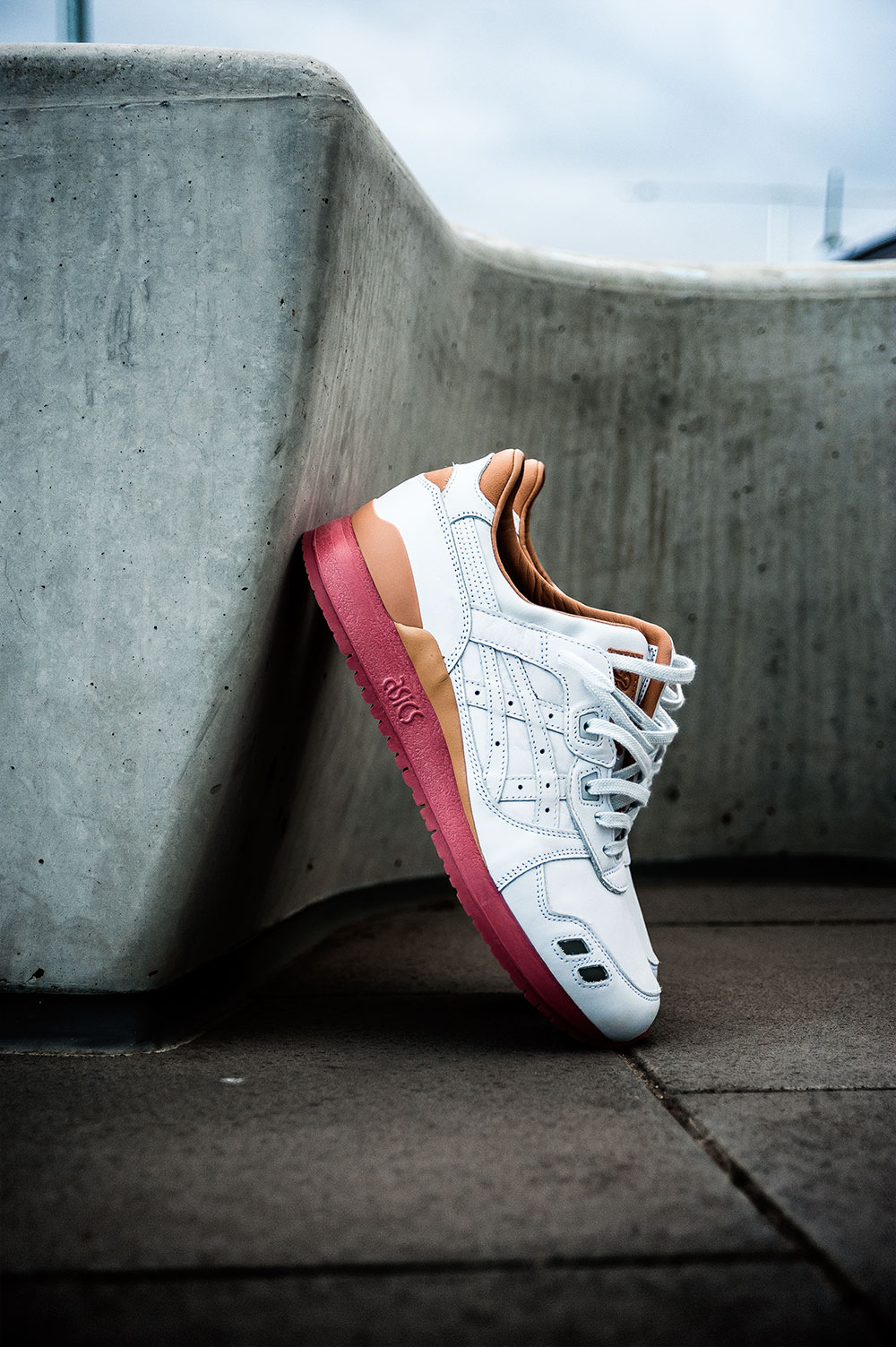 Packer X J.Crew X Asics Tiger GLIII '1907 Collection' White Buck Sneakers by Tom Cunningham