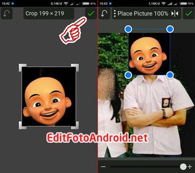 Cara Edit Foto Kepala Upin Ipin PicSay Pro