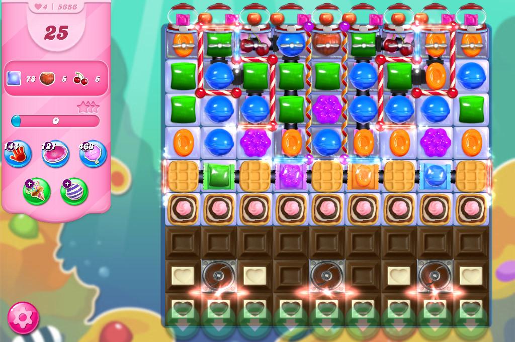 Candy Crush Saga level 5686
