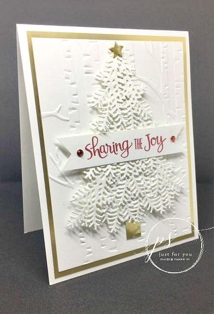 Carte de Noël Stampin' Up faite avec le jeu Prêts pour Noël