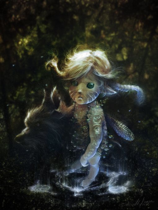 Ania Mitura DalisaAnja deviantart ilustrações fantasia sombria Selva