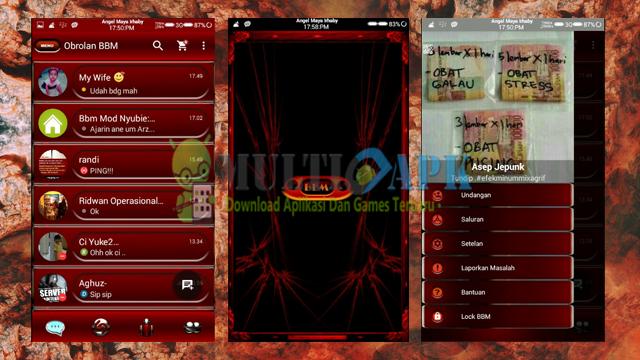 Download Aplikasi BBM Mod Romantic Red Angel Versi 2.13.1.14 Apk Terbaru For Android