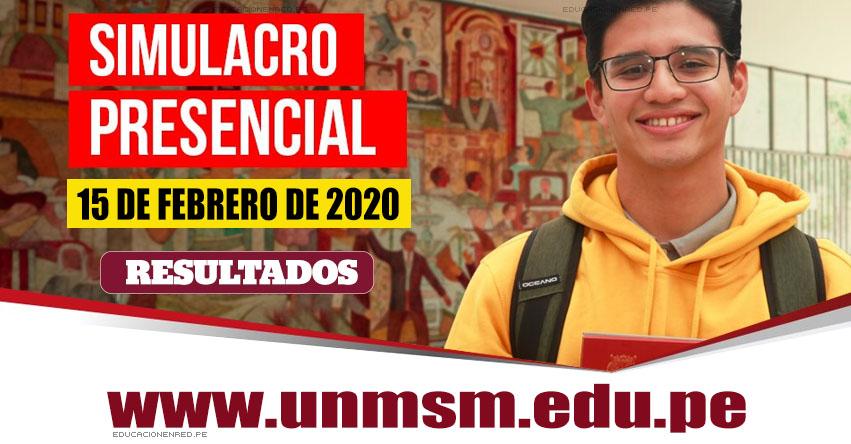 UNMSM: Resultados Simulacro 2020-2 (Sábado 15 Febrero) Lista de Aprobados - Simulacro Presencial Descentralizado de Examen de Admisión - Universidad Nacional Mayor de San Marcos - www.unmsm.edu.pe