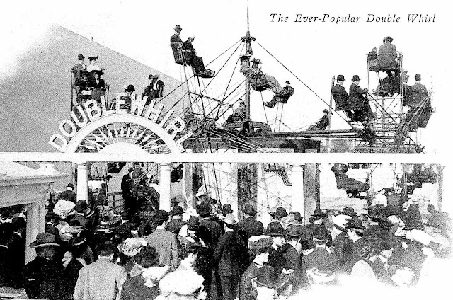 a 1905 amusement park, 'Double Whirl' ride photograph