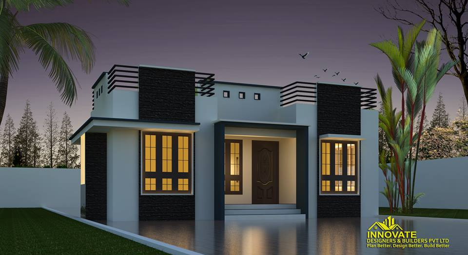Modern 2 bedroom budget house for 11 5 lakhs in 663 sqft for Homes plus designers builders inc