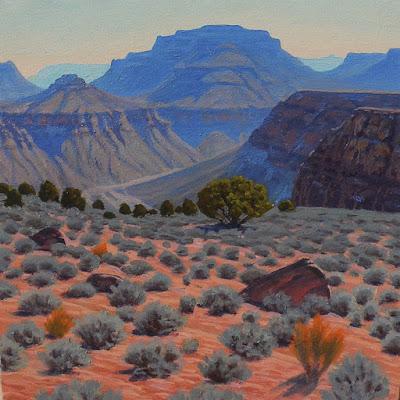 tonto plateau grand canyon art km withers