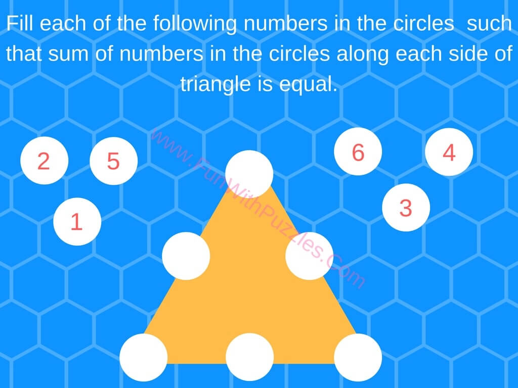 Triangle Math Puzzle Worksheet