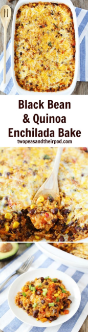 This Black Bean and Quinoa Enchilada Bake is SO good! Promise me you will make it. It is one of our favorite meals! I guarantee it will be a regular at your house!