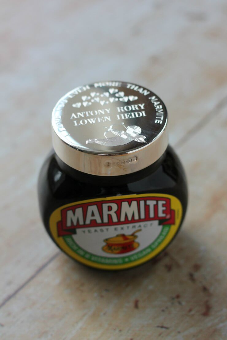 Personalised Marmite Jar from Engravers Guild
