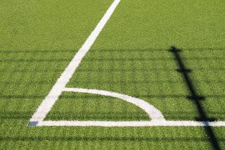 Soccer field turf corner