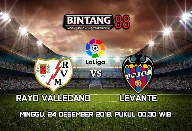 Prediksi Rayo Vallecano vs Levante 24 Desember 2018
