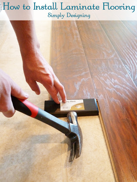 How to Install Laminate Flooring | #diy #flooring #homeimprovement #laminateflooring | at Simply Designing