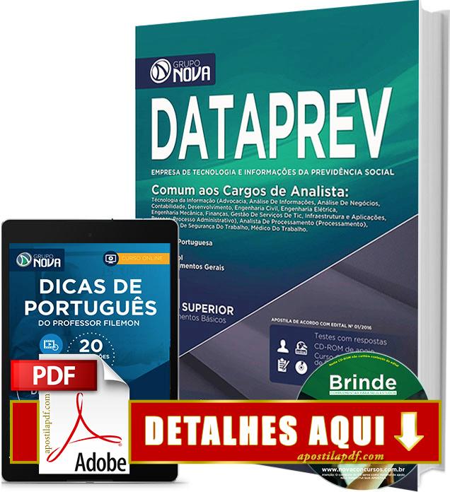Apostila DATAPREV 2016 Analista Impressa