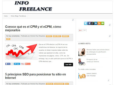 Info Freelance, un blog para emprendedores digitales