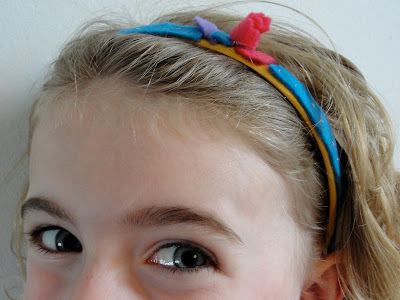 flower hair band for child, made by child