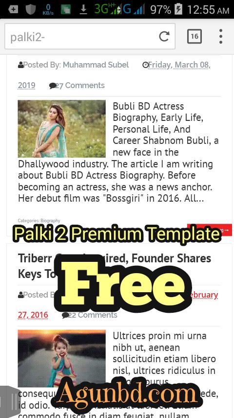 Responsive Palki 2 Blogger Premium Templat For Free 2019