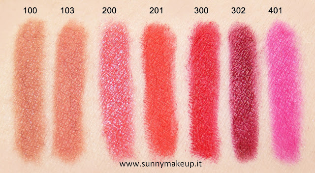 Swatch Pupa - Made To Last Definition Lips. Matite labbra. 401 Shocking Fuchsia. 100 Absolute Nude, 103 Apricot Rose, 200 Glam Apricot, 201 Sea Coral, 300 Red Passion, 302 Chic Burgundy, 401 Shocking Fuchsia.