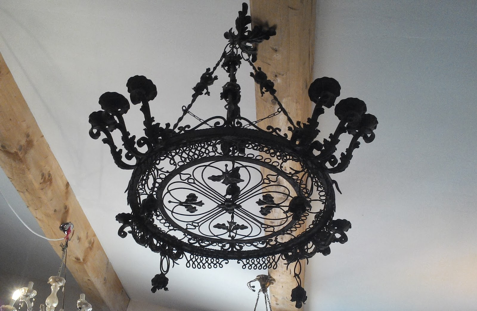 Suspension lustre forg fer ancien - Lustre fer forge ...