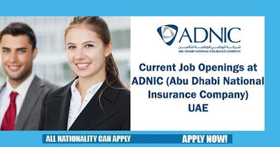 Jobs at ADNIC (Abu Dhabi National Insurance Company) UAE