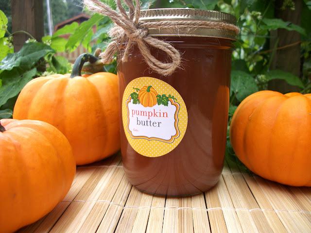 Cute Pumpkin Butter Mason Jar Labels
