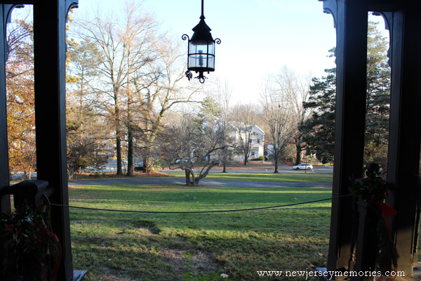 View from the porch at Evergreens, Montclair, New Jersey