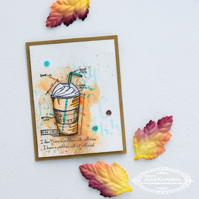 #fall2016clh stamper's anonymous Simon Says Stamp Stampember coffee themed card
