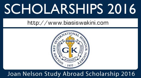 Joan Nelson Study Abroad Scholarship 2016