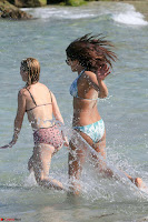 Priyanka Chopra on beach in White and green Bikini Enjoying Miami Day 5 ~  Exclusive 16.jpg