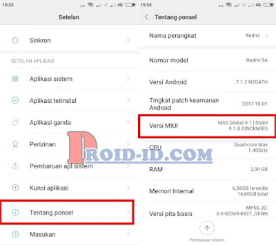 Mengaktifkan Developer Option Xiaomi