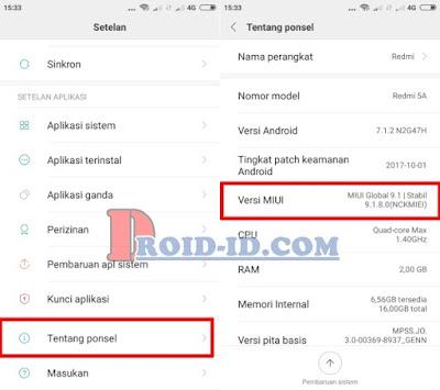 Mengaktifkan Developer Option Xiaomi