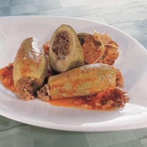 Stuffed Baby Zucchini with Tomato Sauce Recipe