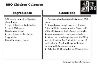 BBQ chicken calzones recipe