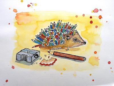illustratie egel