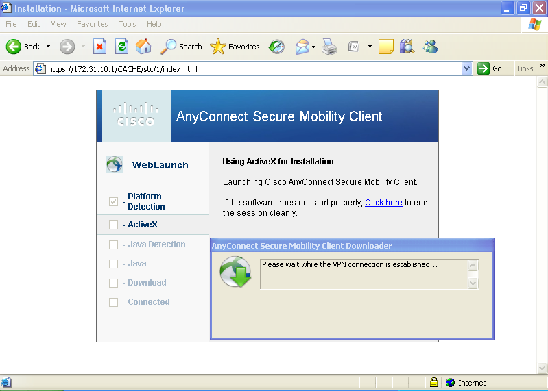 Network Galaxy: Anyconnect SSL-Client VPN with Self-signed