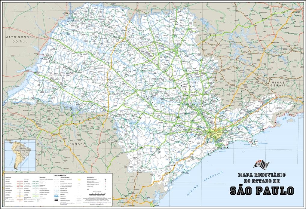 mapa rodoviário sao paulo sp parede