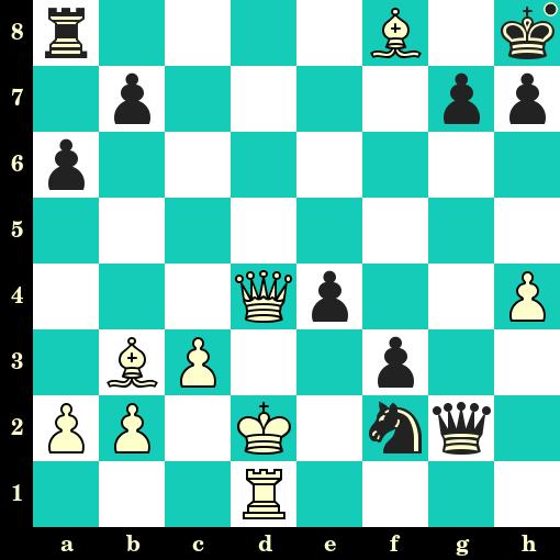 Les Noirs jouent et matent en 2 coups - Seshadri Srija vs Thai Dai Nguyen, Gibraltar, 2019