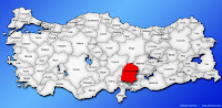 Kahramanmaraş ilinin Türkiye haritasında gösterimi