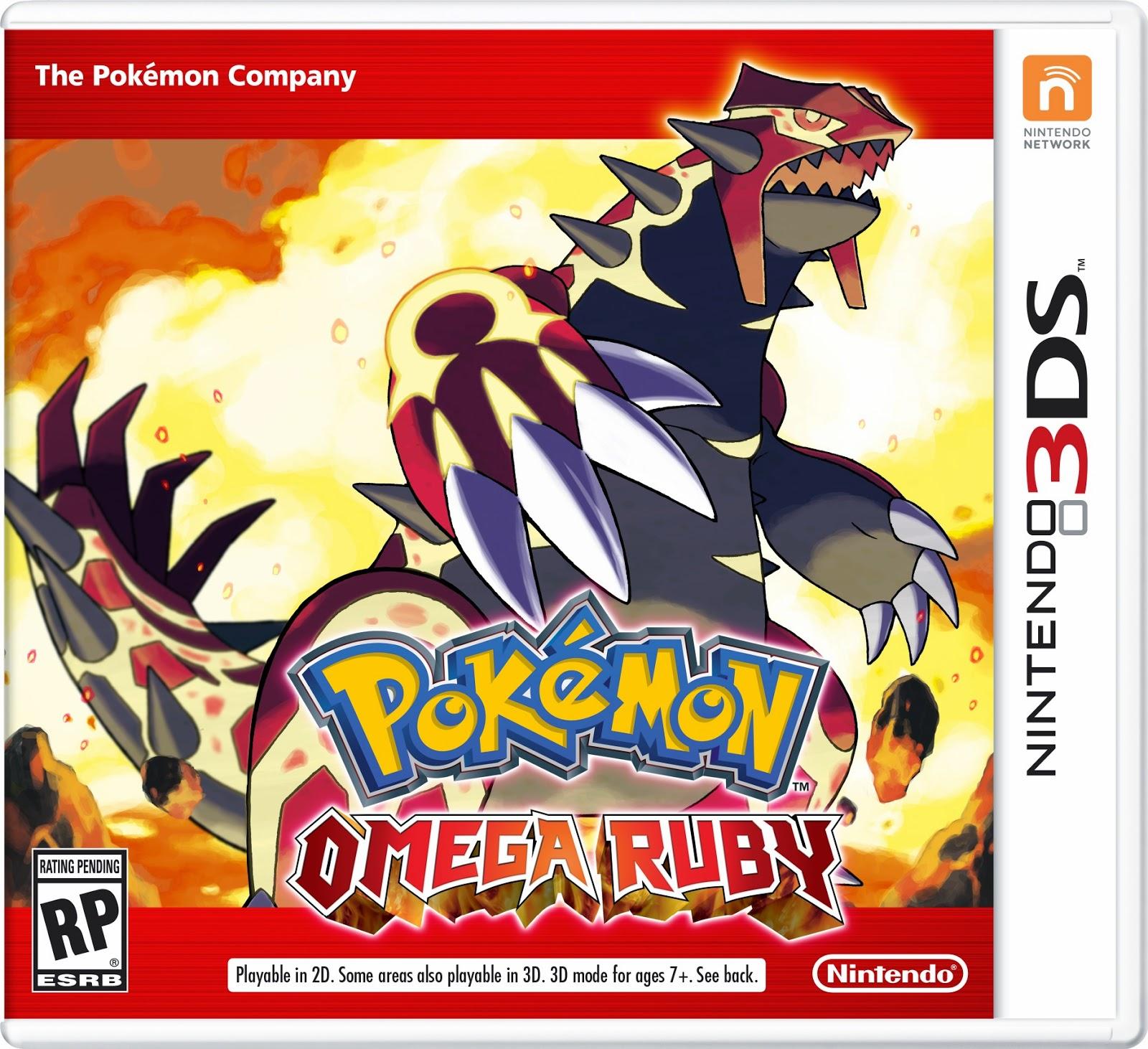 3DS Pokémon Omega Ruby Cover