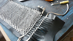 Weaving leather