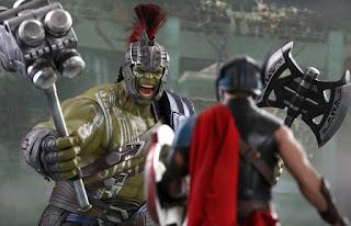 thor ragnarok: figuras de accion de thor y hulk gladiador