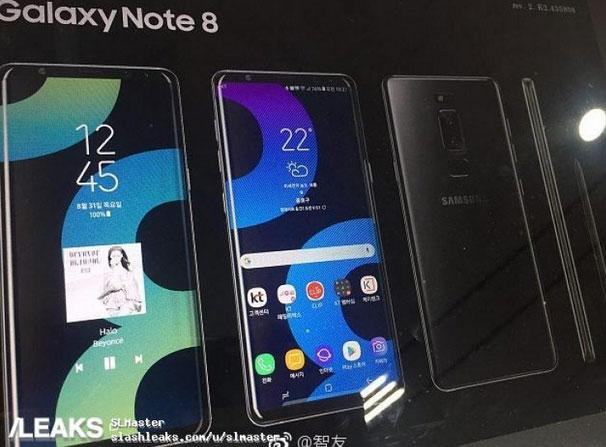 Filtran nuevos detalles del Galaxy Note 8
