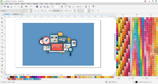 Cara Membuat Gambar Postingan Dengan CorelDraw - Cara Memilih Warna Yang Baik Dan Benar di Coreldraw