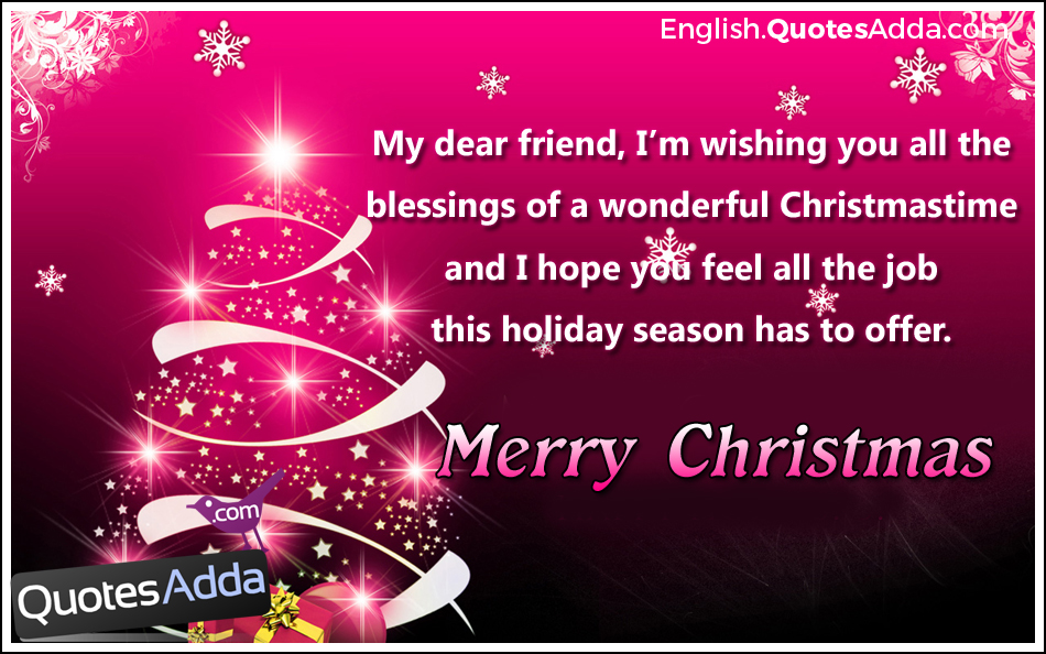 Cute Christmas Quotes For Friends – Merry Christmas And ...