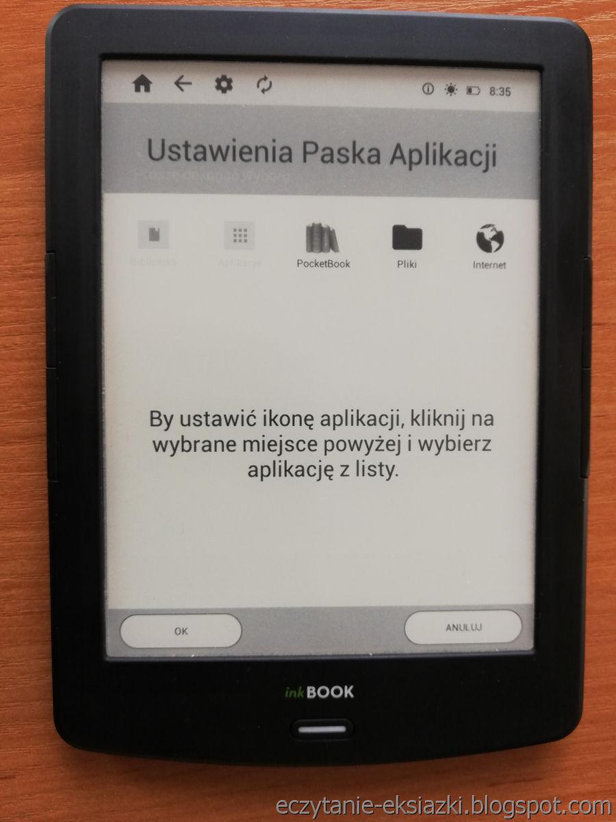 InkBOOK LUMOS – ustawiani skrótu do PocketBook Reader w ekranie startowym