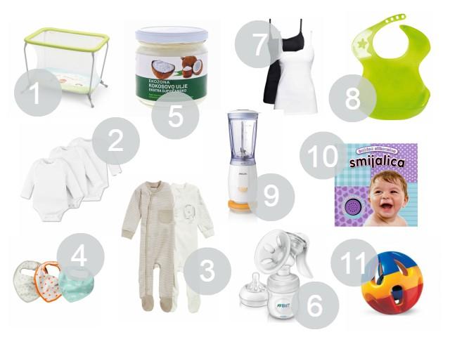 10+ omiljenih stvari za bebe