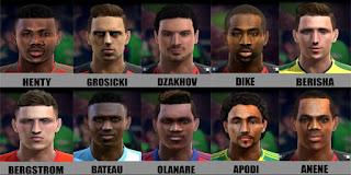 Faces: Anene, Apodi, Bateau, Bergstrom, Berisha, Dike, Dzakhov, Grosicki, Henty, Olanare, Pes 2013