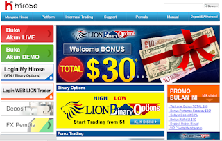 Profil Lion Binary Option, Broker Dengan Bonus Pendaftaran s.d USD 30